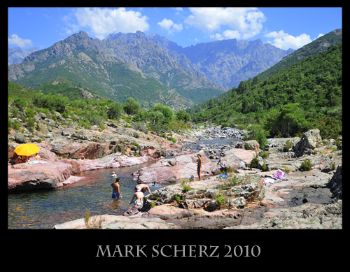 Bathing in the Rivers of Corsica's Mountains