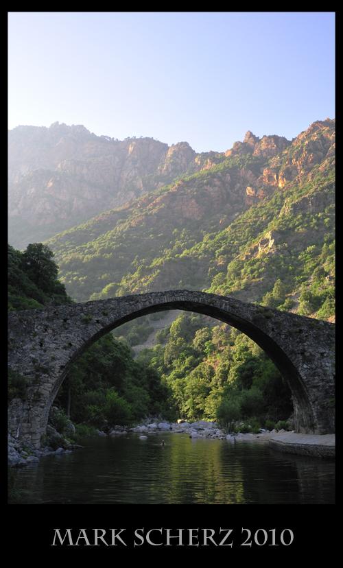 Bridge over a Mountain River in Corsica