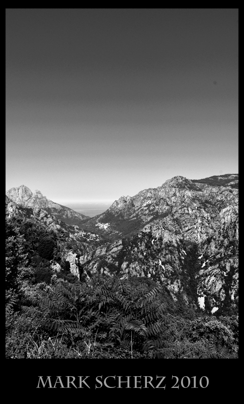 Corsica Mountains in Black and White 3