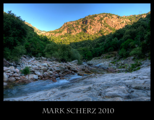 Corsica mountain stream in HDR 1