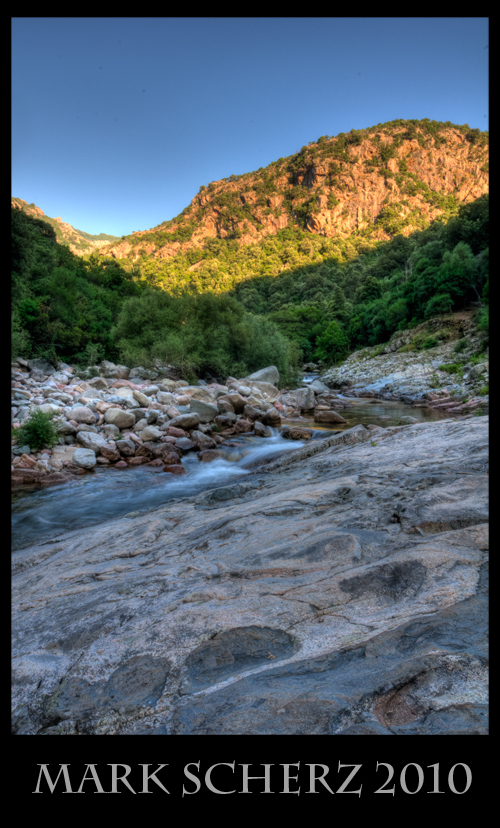 Corsica mountain stream in HDR 2