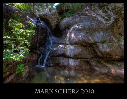 Miniature Corsican Waterfall HDR