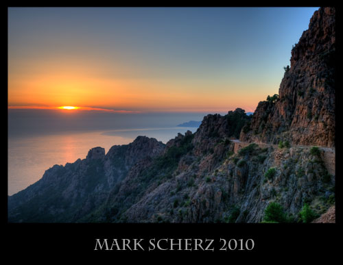 Sunset on the Calanques, Corsica HDR 1
