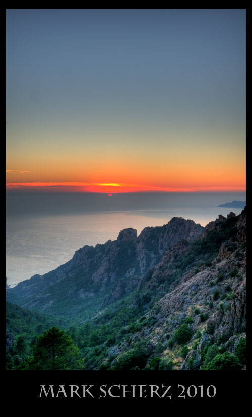 Sunset on the Calanques, Corsica HDR 2