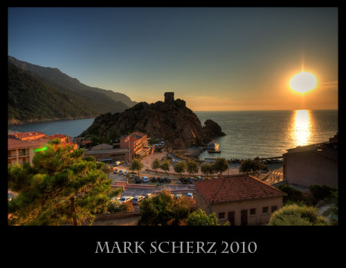 Sunset on Porto, Corsica in HDR 1