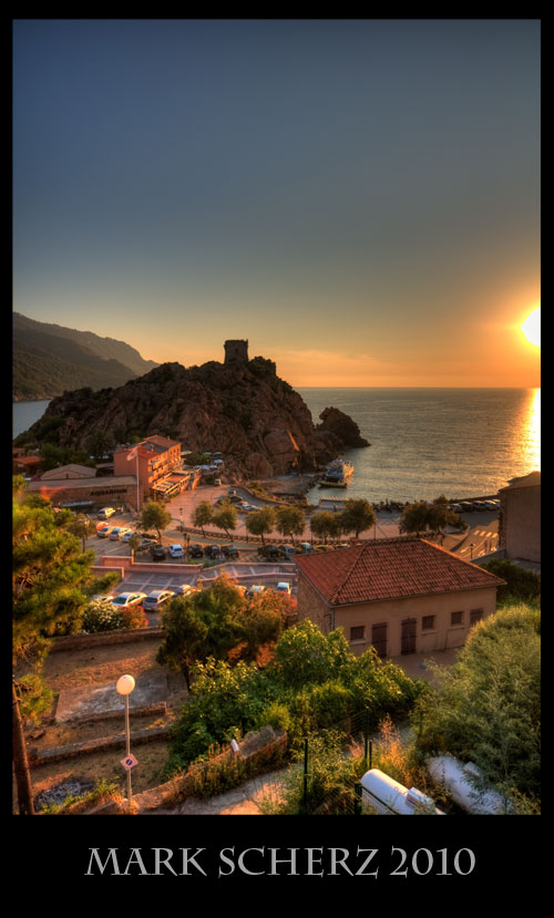 Sunset on Porto, Corsica in HDR 2