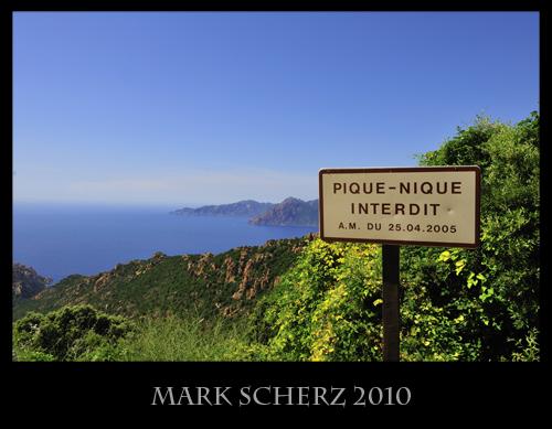 Picnic Sign in Corsica