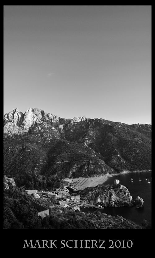 Porto, Corsica - Black and White