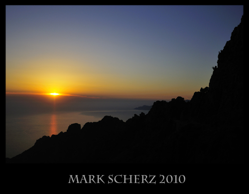 Sunset on the Calanques, Corsica 1