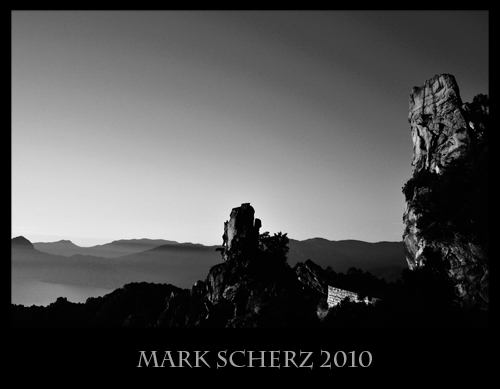 The Calanques of Corsica in black and white 1