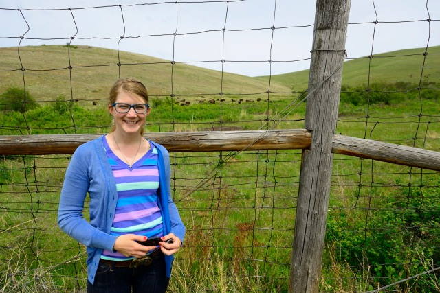 Emily Graslie of The Brain Scoop at the National Bison Range in Montana
