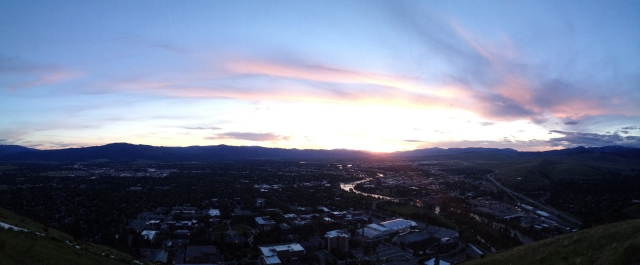 Missoula under the setting sun - iPhone pano